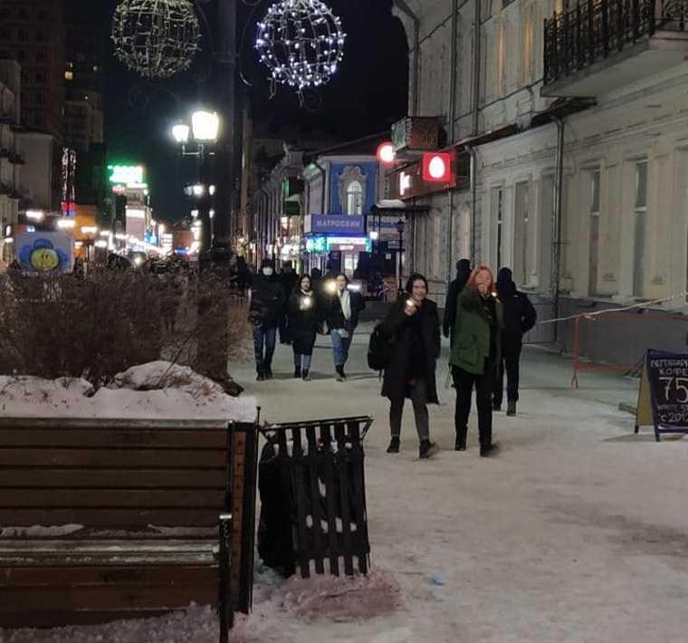 Как в УрФО проходят несогласованные акции сторонников Навального. Фото, видео