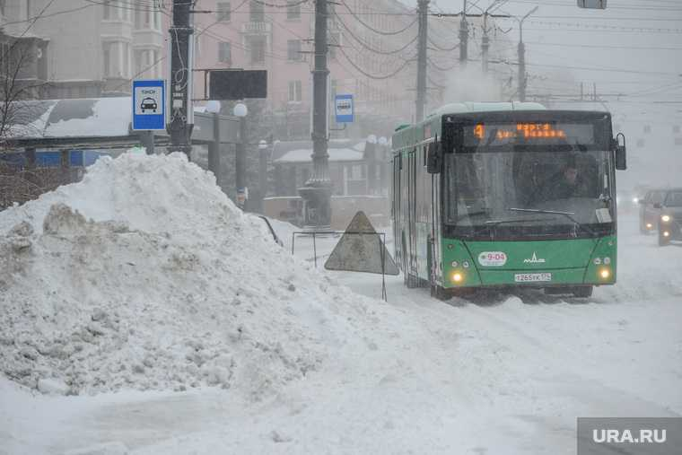 снегопад в Ишиме