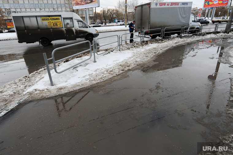 Челябинск Копейск ремонт дороги весна лужи