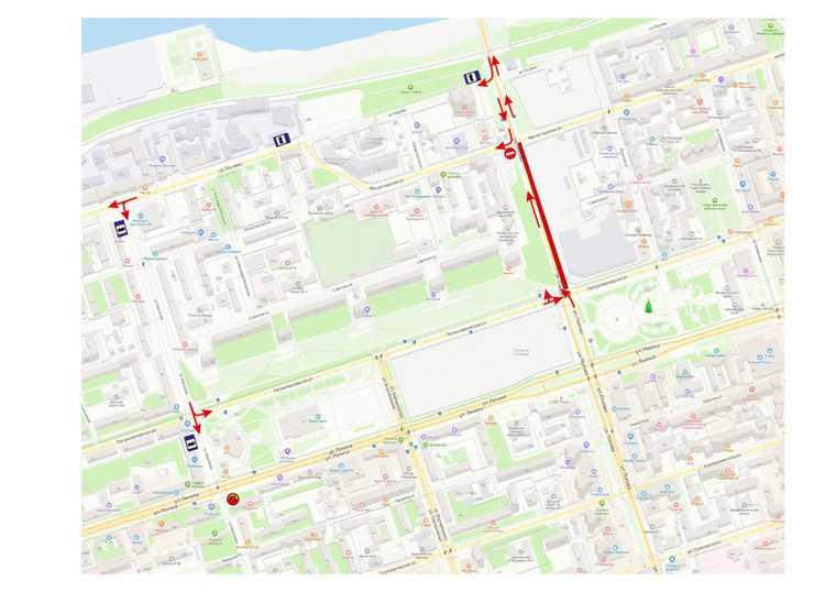 В центре Перми до конца лета ограничат движение транспорта. Фото